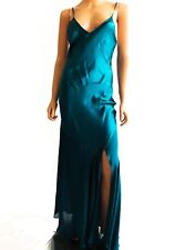 Haute Hippie Deep Sea Blue Sleeveless Maxi Silk Evening Dress Size XS