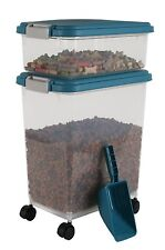 Dog Cat Dry Pet Food Storage Navy Airtight Kitchen Pantry Feeder Container