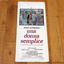 UNA DONNA SEMPLICE locandina poster Une Histoire Simple Romy Schneider AA41