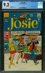 JOSIE 38 CGC 9.2 Doyle DeCarlo Lapick Archie Publications 1968 Cartoon Character