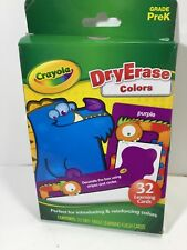 Crayola Dry Erase 32 Learning Flash Cards Grade PreK Introduce Reinforce Colors