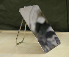 SHAVING / SIGNAL MIRROR ITALIAN ARMY POLISHED STAINLESS WITH STAND / HANDLE