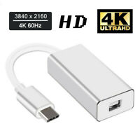 Thunderbolt 3 USB-C to Mini DisplayPort Converter 4K 60HZ Type-C Mini DP Adapter