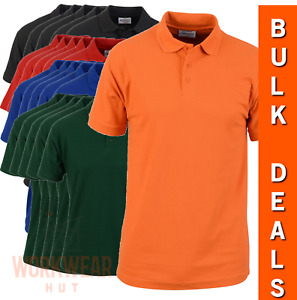 Workwear Plain Mens Polo Shirts Bulk Deals S to 7XL available