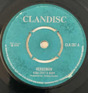 King Stitt & Andy Herbsman / Higgs & Wilson Original Uk 45 Clandisc 1970!!
