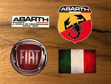 FIAT Aufkleber Set 500 X L 4x4 Cross Abarth 695 Biposto Punto Panda Italien #420