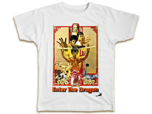 Bruce Lee Enter The Dragon T-Shirt - Movie Poster Mens Dad Ideal Gift Present