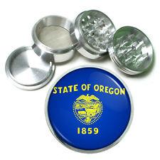 Oregon State Flag D1 Aluminum Herb Grinder 63mm 4 Piece Hand Mueller