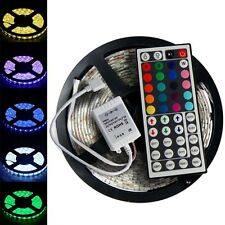 5M 5050 RGB SMD 300 LED Waterproof Multi-Color 12V Light Strip +44 Key IR Remote