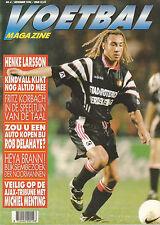 MAGAZINE VOETBAL 1996 nr. 04 - HENKE LARSSON/JAAP STAM/KORBACH/EDWARD LINSKENS