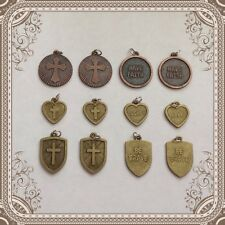 12 Double-sided Christian Religious Charms Jewelry Making Bracelets Earrings Z9