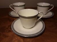 Royal Doulton English Fine Bone China- Ravenswood - set of 4 cups and saucers