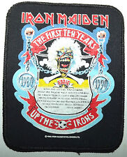 IRON MAIDEN The 1st 10 Years 1980`-1990 Up the Irons Vtg Printed Sew On Patch