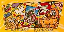Bruno Donzelli, Atelier Picasso, litografia,75x46 cm