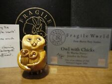 Harmony Kingdom Mps Fragile World Owl with Chicks Marble Resin Figurine