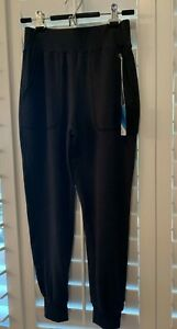 LUV SURF Women's X-SMALL Sweatpants Joggers Track Yoga CHARCOAL Pockets NEW $55