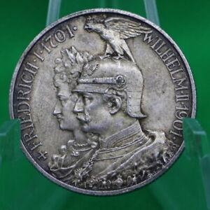 2 Mark Kaiserreich - Preussen 1901 - 200 Jahre Königreich - Silber Sammlung J105