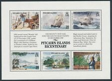 1989 PITCAIRN ISLANDS BICENTENARY MINI SHEET 1st ISSUE MINT MNH/MUH