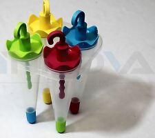 Congelatore Ice Lolly Pop Stampo Maker Jelly Crema succo Ombrello per bambini 4PCS