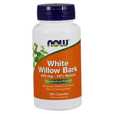 White Willow Bark 100 Caps 400 mg by Now Foods