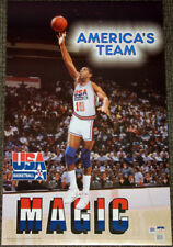 Magic Johnson Team USA 1992 olímpico Dream Team Cartel Oficial NBA Baloncesto