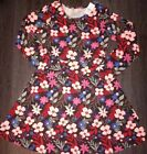 Girls justice multi floral dress size 12 new