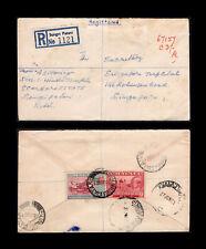 Malaya/Malaysia Kedah 1961 regd cover to Singapore, Sungei Patani despatch pmk