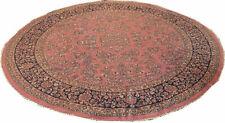 A Decorative 8' Round Sarouk Style Area Rug