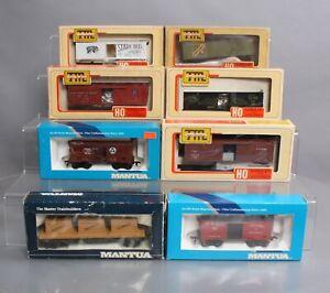 Mantua HO Assorted Kits & Assembled Freight Cars [8]/Box