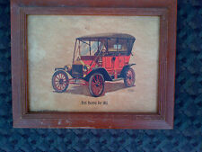 VINTAGE FORD TOURING CAR 1911 LITHO PRINT-FREDERICK ELMIGER Vintage Ford Car