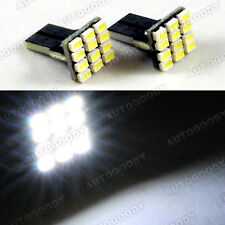 2 x White LED Bulbs 9 SMD T10 Wedge Side Marker Step Door Light License Plate