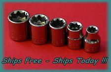 Craftsman 3/8 Drive 5 Piece 8 Pt Point SAE Inch Square Star Box Socket Set STD
