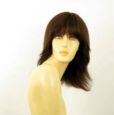 Perruque femme 100% cheveux naturel châtain ref FABIENNE 6