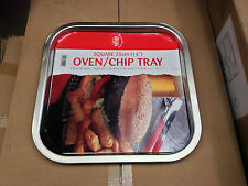 SINGLE Harvest Bright (Tin Plate) Oven/Chip Tray 350 x 350 x 20mm (2124/PG1050)