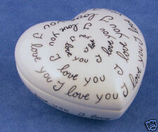 Lg French Chamart Limoge I Love You 1 Heart Trinket Box Valentines Day Gift