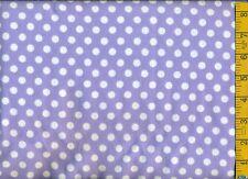 "1/2 yd FLANNEL 3/8"" White Dots on Medium Purple BTHY"