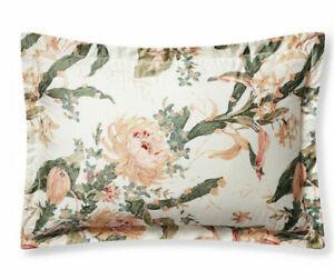 Ralph Lauren Josefina Olivia Standard Shams Cream Floral Pair MSRP $260 New