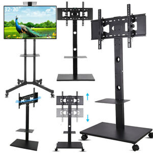 """32 50 55 60 65 70 75 80 100"""" Floor Moving TV Stand Mount for Sony LG Vizio JVC"""