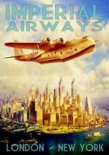 MAGNET  TRAVEL Photo Magnet  IMPERIAL AIRWAYS London to New York