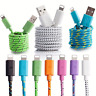 3/6/10FT Braided Lightning Data Cable USB Charger For iphone 5S 6S 7 6 Plus