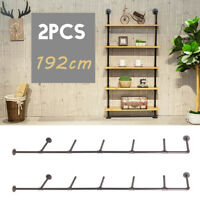 2PCS 5-Tiers Wall Mount Iron Racks Storage Shelving Bookshelf  Industrial