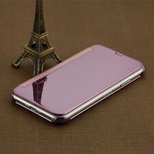 For Apple iPhone X 10 Window Flip Wallet Transparent Case View Clear Cover Pink