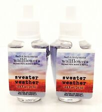 2 BATH & BODY WORKS WALLFLOWERS SWEATER WEATHER HOME FRAGRANCE REFILL NEW!