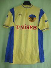 Maillot cycliste Le Roc Cyclo Salvetain UNISYS Jaune 80'S Jersey Vintage - XL
