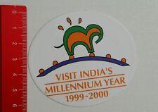 Aufkleber/Sticker: Visit India's Millennium Year 1999 - 2000 (0607163)