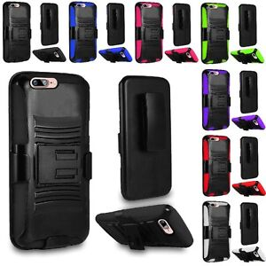 For Apple iPhone 8 Plus / 7 Plus Hard Case Cover + Belt Clip Holster Kickstand