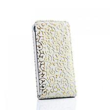 Flip case Handy Tasche Sony Ericsson Xperia Arc / Arc S Weiss-Gold Schutz Hülle