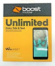 """New & Sealed Boost Mobile - Prepaid - Wiko RIDE - 5.45"""" Touchscreen 16GB 5MP"""