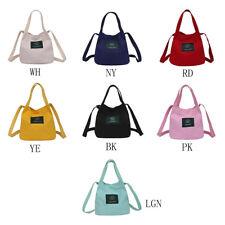 Trendy Korean Style Canvas Messenger Shoulder Storage Bag Purse Simple Portable