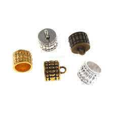 30Pc Craft Necklace Bracelet Leather Cord End Bead Cap Stopper Fit 8mm Bead Caps